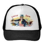 El tío Sam los E.E.U.U. señala el 4to por medio de Gorras