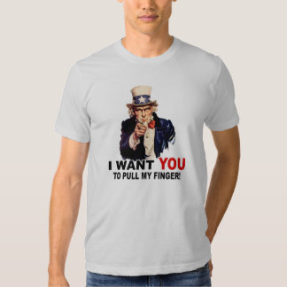 El tío Sam QUISIERA que USTED TIRARA de MI DEDO Camisas