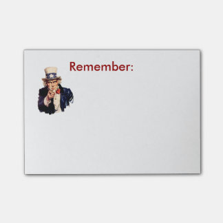 El tío Sam recuerda el post-it Notas Post-it®