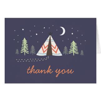 El tipi lindo le agradece cardar tarjeta pequeña