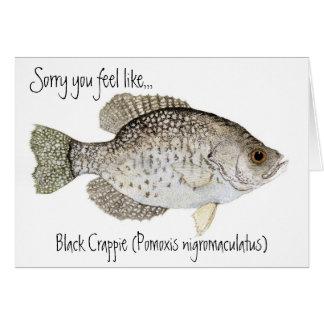 El tipo de pez consigue la tarjeta bien