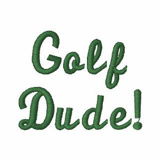 El tipo del golf pone verde la camisa bordada blan camiseta polo bordada