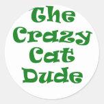 El tipo loco del gato pegatina