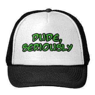 el tipo, refresca seriamente diseño gorras de camionero