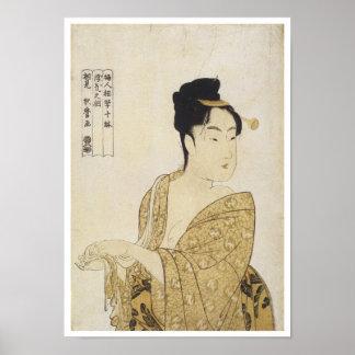 El tipo voluble, Utamaro, 1792-93 Impresiones