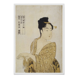 El tipo voluble, Utamaro, 1792-93 Póster
