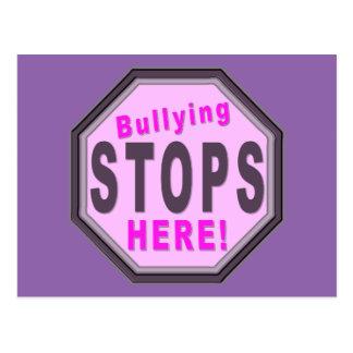 El tiranizar para aquí púrpura tarjetas postales