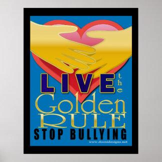 el tiranizar vivo de la parada de la norma de oro póster