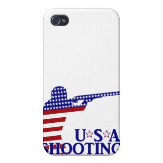 El tirar de los E.E.U.U. (rifle blanco y azul rojo iPhone 4 Coberturas