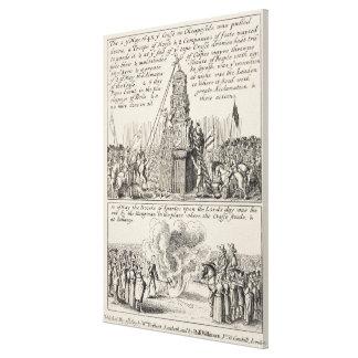 El tirar hacia abajo de la cruz de Cheapside por e Impresiones De Lienzo
