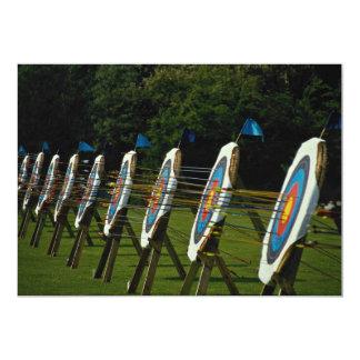 """El tiro al arco apunta cerca de Brentwood, Essex, Invitación 5"""" X 7"""""""