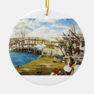 El tiro oído 'alrededor del mundo Domenick D'Andre Ornamento De Navidad