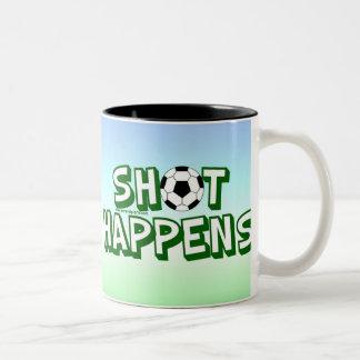 El tiro sucede taza de dos tonos