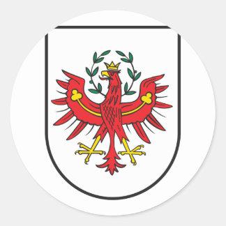El Tirol Wappen, Austria Pegatina Redonda