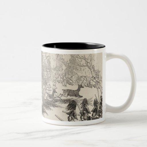 El tiroteo de los ciervos en Gotha Tazas De Café