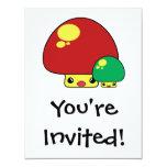 el toadstool lindo del kawaii prolifera invitación 10,8 x 13,9 cm