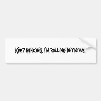 El tocar la bocina Keep. Estoy rodando iniciativa Pegatina Para Auto