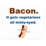 El tocino consigue vegetarianos sentimentales tarjetas postales