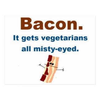 El tocino consigue vegetarianos sentimentales postal