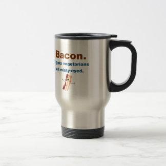 El tocino consigue vegetarianos sentimentales taza térmica