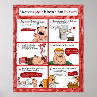 El tocino de 6 razones es mejor que amor verdadero póster