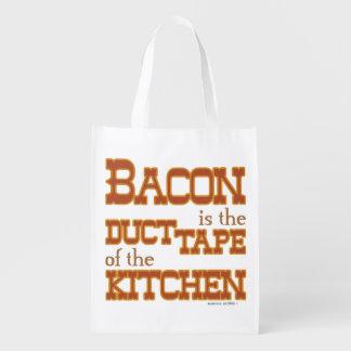 El tocino es la cinta aislante de la cocina bolsa para la compra