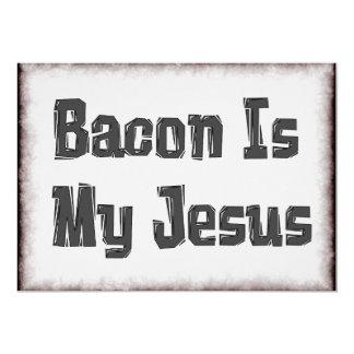 El tocino es mi Jesús Invitación 12,7 X 17,8 Cm
