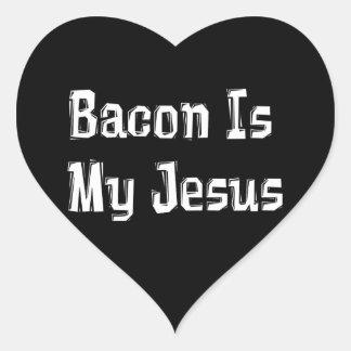 El tocino es mi Jesús Calcomanía Corazón