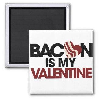 El tocino es mi tarjeta del día de San Valentín Iman De Nevera