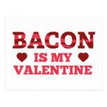 El tocino es mi tarjeta del día de San Valentín Postal