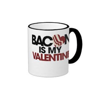 El tocino es mi tarjeta del día de San Valentín Taza De Dos Colores