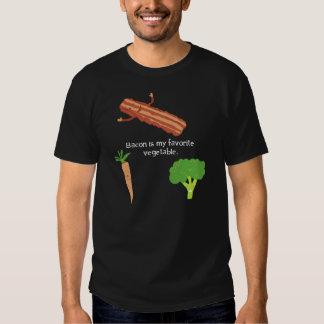 El tocino es mi verdura preferida (oscura) remeras