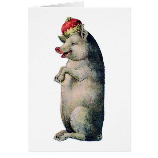 El tocino es rey tarjeta de felicitación