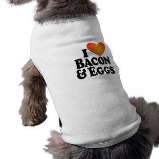 El tocino I y los huevos (del corazón) - persiga l Playera Sin Mangas Para Perro