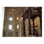 El toldo de Bernini, la basílica de San Pedro Tarjeta Postal