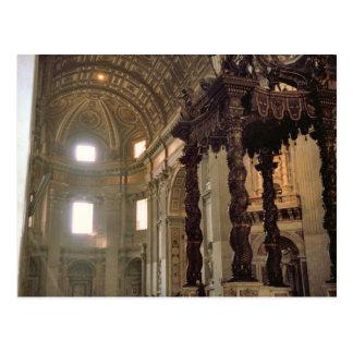 El toldo de Bernini, la basílica de San Pedro Tarjetas Postales