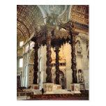 El toldo de Bernini sobre el alto altar Tarjeta Postal