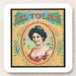 El Tolna Vintage Cigar Label Drink Coasters
