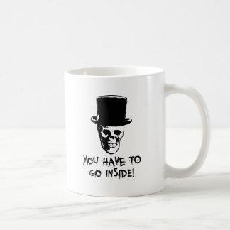 El tomador de la piel taza de café