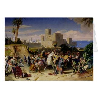 El tomar de Beirut de los cruzados Tarjeta