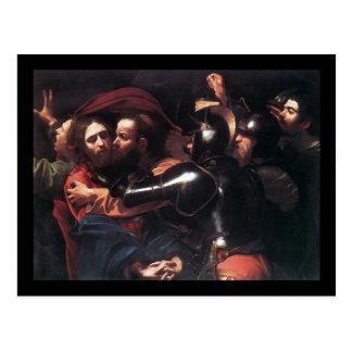 El tomar de Caravaggio de Cristo Postal