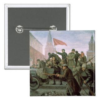 El tomar de la Moscú el Kremlin en 1917, 1938 Pin Cuadrada 5 Cm
