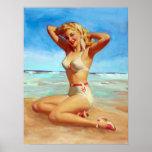 El tomar el sol en el Pin de la playa para arriba Impresiones