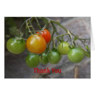 El tomate le agradece cardar tarjeta de felicitación