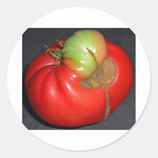 El tomate legendario pegatina redonda