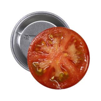 El tomate perfecto de la rebanada pin redondo 5 cm