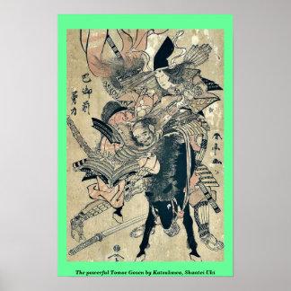 El Tomoe potente Gozen por Katsukawa, Shuntei Uki Impresiones