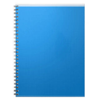 El tono de acrílico azul del color muestra libreta