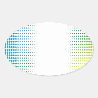 El tono medio colorido puntea los estilos de colcomanias oval personalizadas