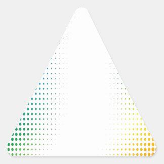 El tono medio colorido puntea los estilos de pegatinas trianguladas